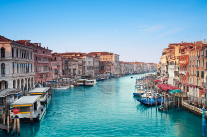 אזור המלונות בעיר ונציה שבאיטליה